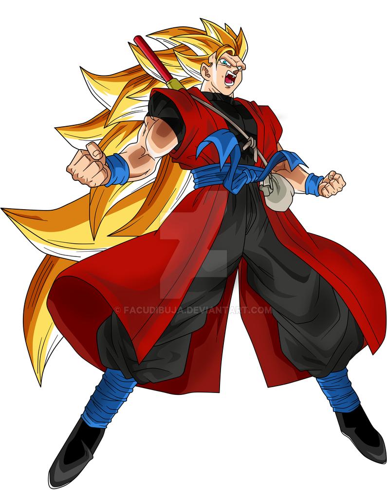 Goku Xeno SSJ3 FacuDibuja by FacuDibuja