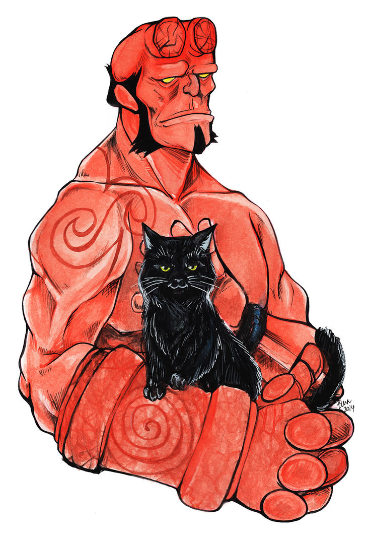 Hellboy by blua