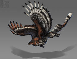 Crowned eagle gryphon adopt: CLOSED by Chickenbusiness