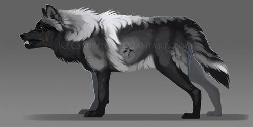 Grayscale wolf design SOLD