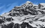 Mountain speedpaint Day 1, #3