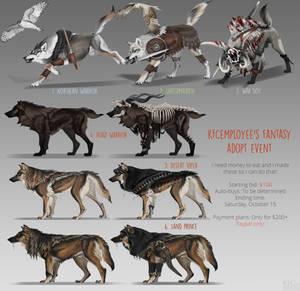 Fantasy wolf adopts: CLOSED