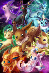 Eeveelutions Poster by Mireielle