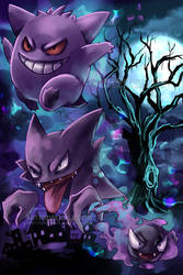 Gengar Evolutions Poster