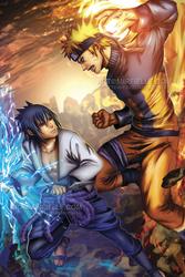Naruto VS Sasuke by Mireielle