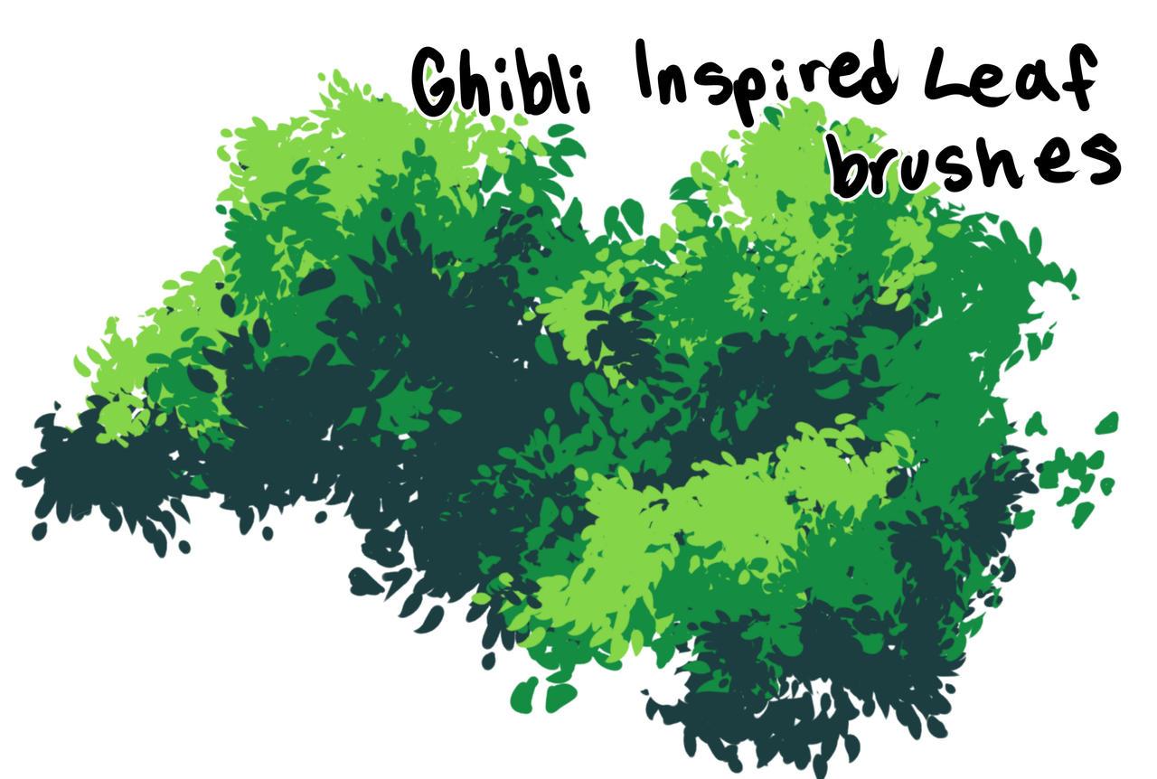 Ghibli Style Leaf Brushes Clip Studio
