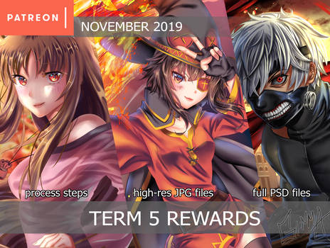 Patreon Term 5 Rewards Summary