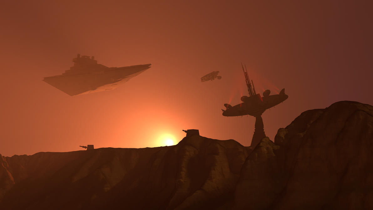 Imperial Base Sunset [4K SFM] by Sonoafafayon