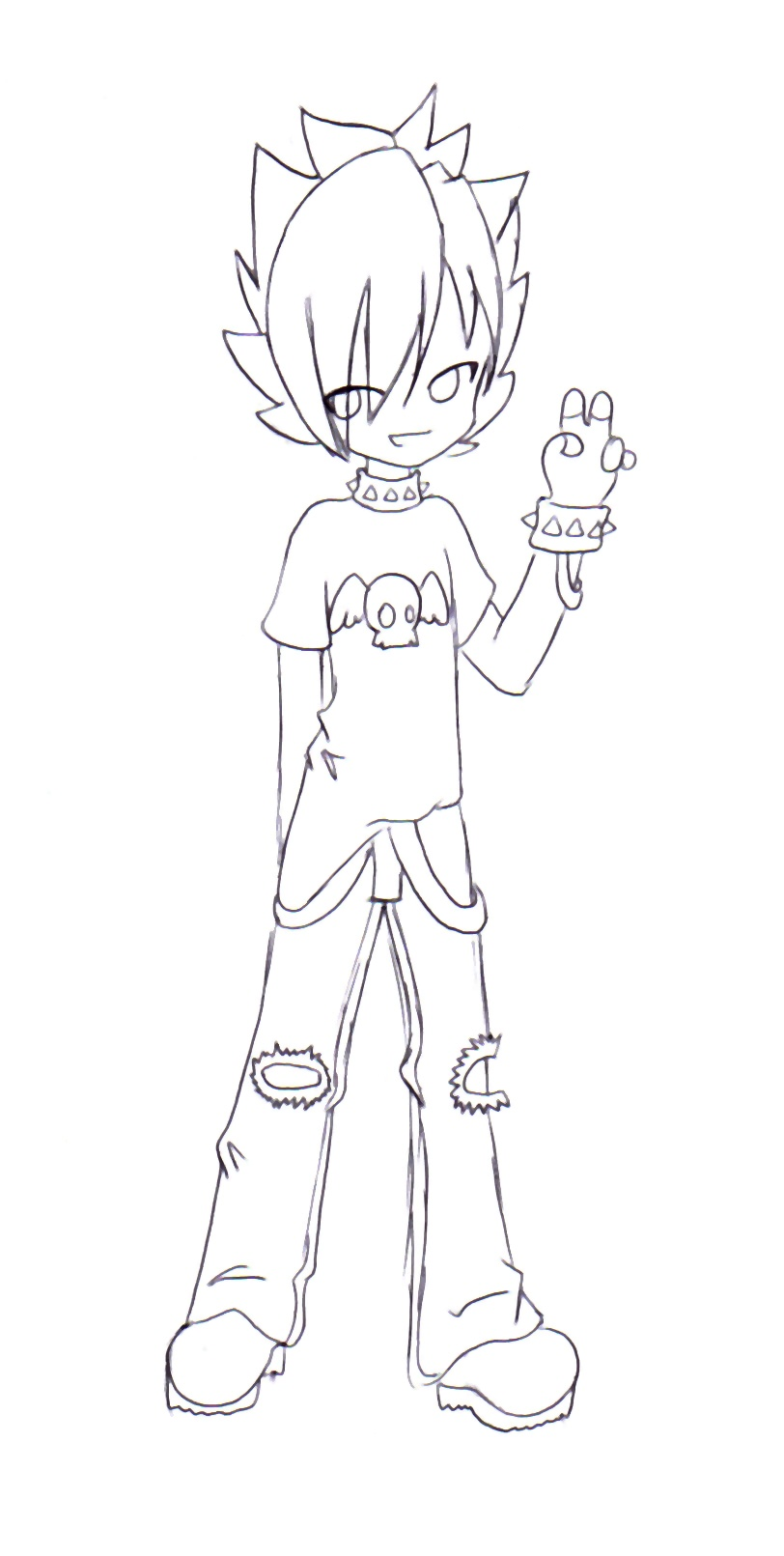 anime chibi boy coloring pages - photo#18