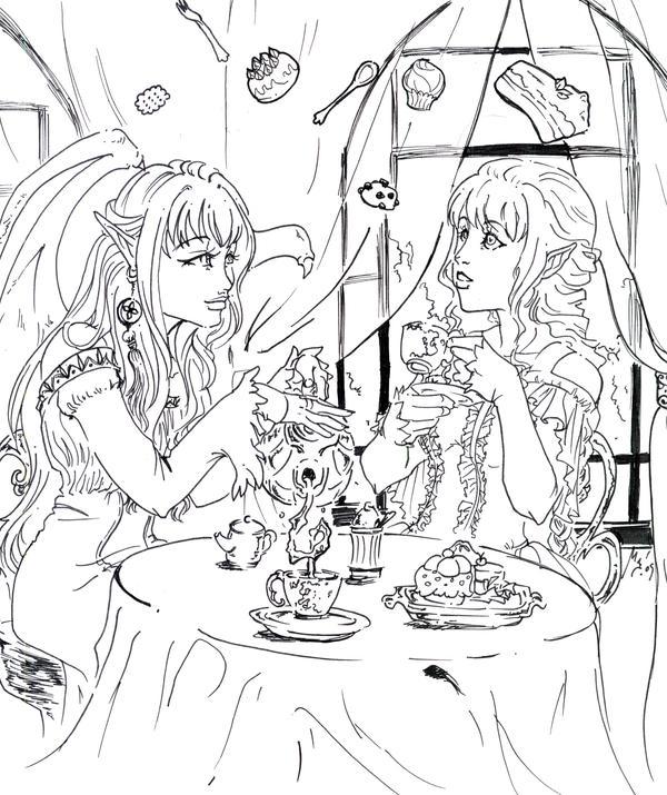 Magic Tea Party by Linyaen