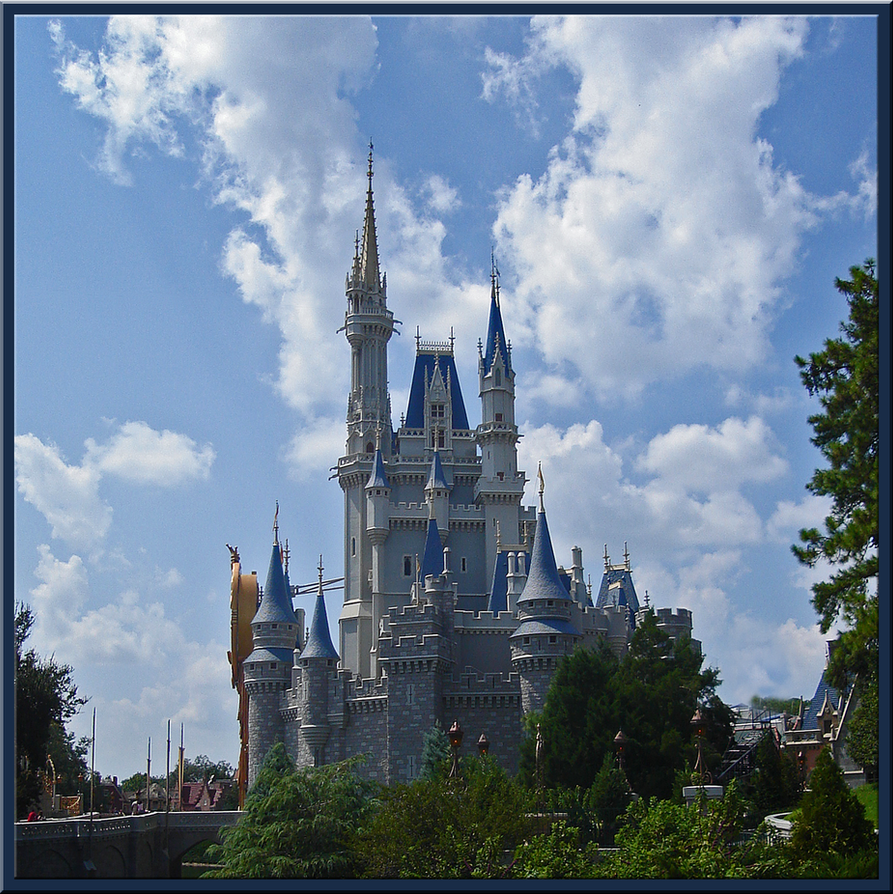 Cinderella Castle Cloudy Day by WDWParksGal