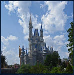 Cinderella Castle Cloudy Day
