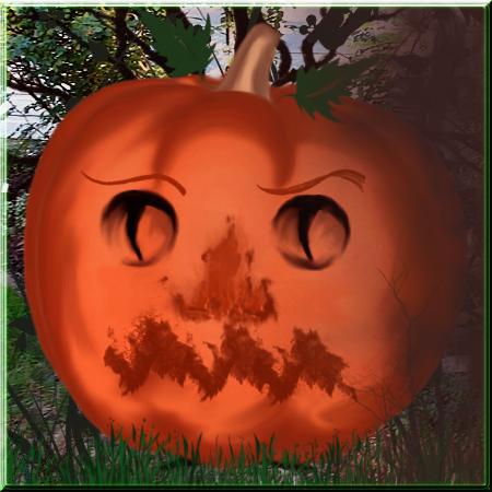 Digital Pumpkin contest entry by WDWParksGal