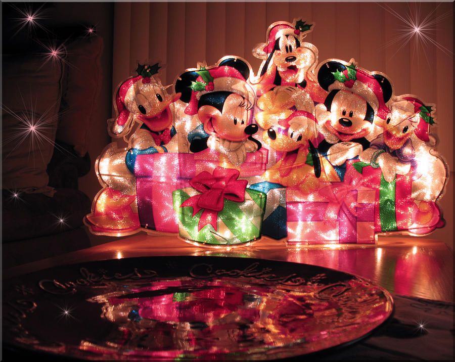 Mickey and Friends Lit Up by WDWParksGal