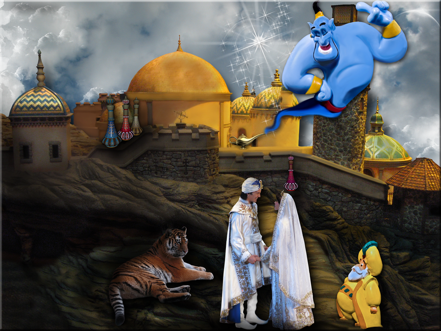 Aladdin and Jasmine Wedding by WDWParksGal on DeviantArt