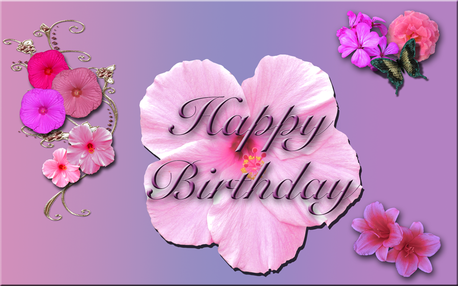 happy birthday flowers banner by wdwparksgal on deviantart