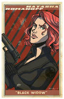 Avengers Poster: Black Widow by EmpressFunk