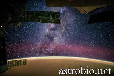 Milky Way View From Space Station by astrobiology12
