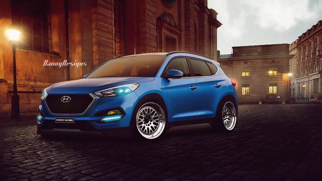 Virtual Tuning Stance Hyundai Tucson By Dannydesignspr On