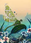 Affiche libellule et Bd by Morgan-chane