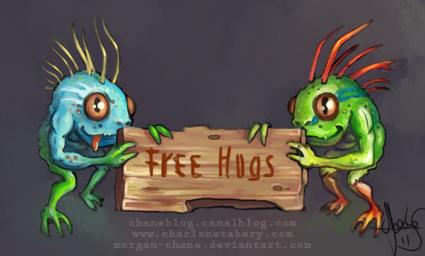 Murlocs free hug by Morgan-chane