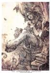 Satyre with a cat (La Saison du Declin )