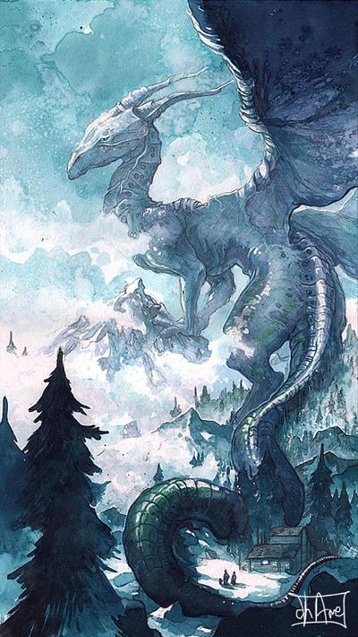 Dragonne Sleeva Watercolors by Morgan-chane