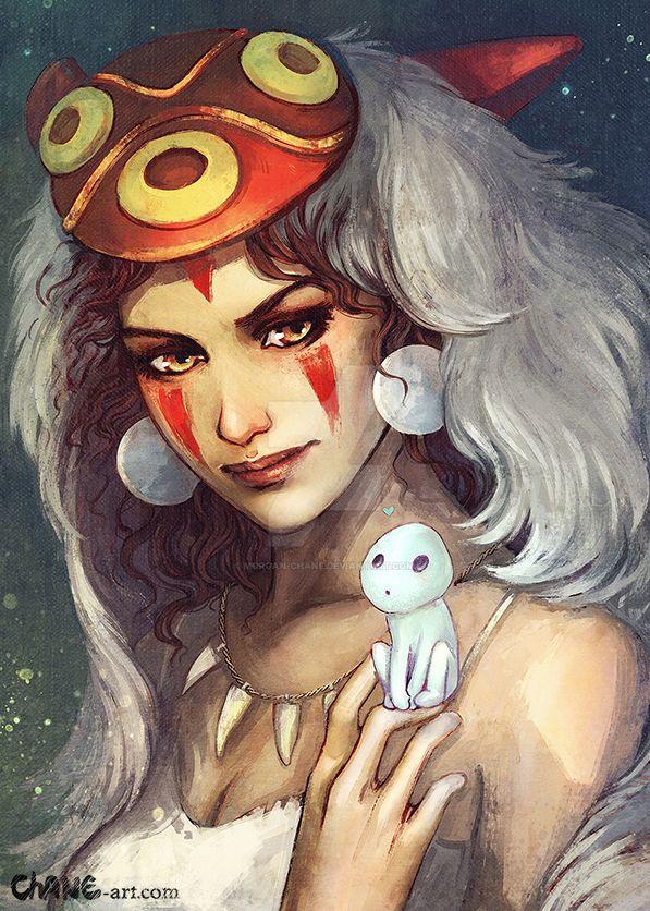 Mononoke hime by Morgan-chane