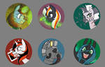 Bronycon Fallout Equestria Buttons