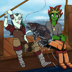 Commission: Go Fish! by RyuRedwings