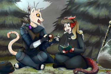 Commission: Muunyal and Arrya by RyuRedwings