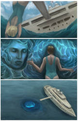 Water Triptych by flabbergastingdragon