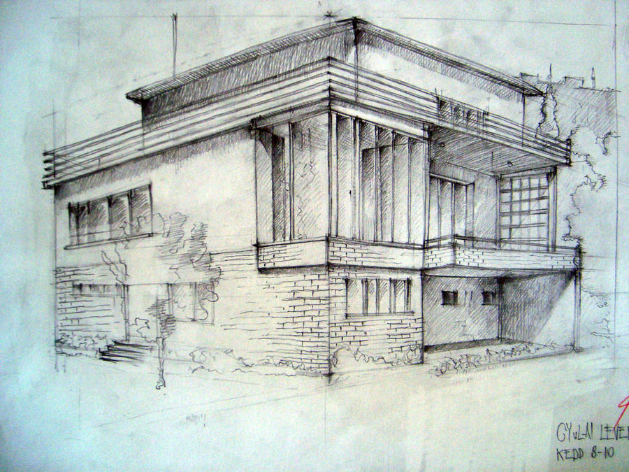 Building sketch with pencil by c reative