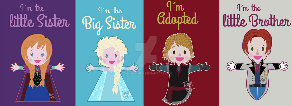FROZEN: Cute Tshirt design by tamarushka