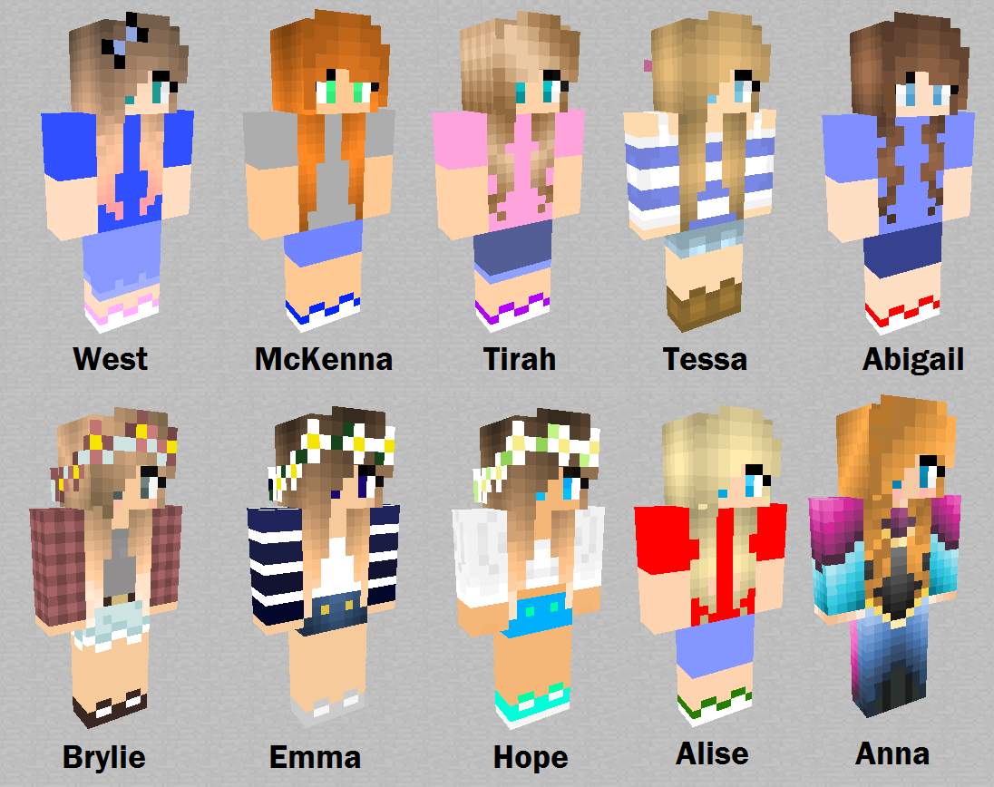 Minecraft Quicksand Girls: All 10 by randomimageviewer on DeviantArt for Minecraft Characters Pictures  557yll