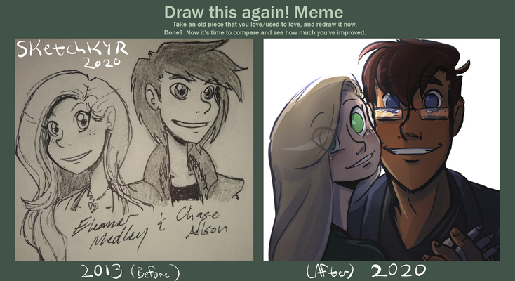 Draw This Again! Meme - Chase and Eleanor