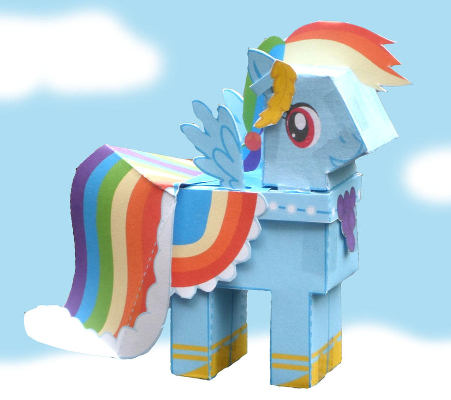 Rainbow Dash papercraft by Freetoys on DeviantArt