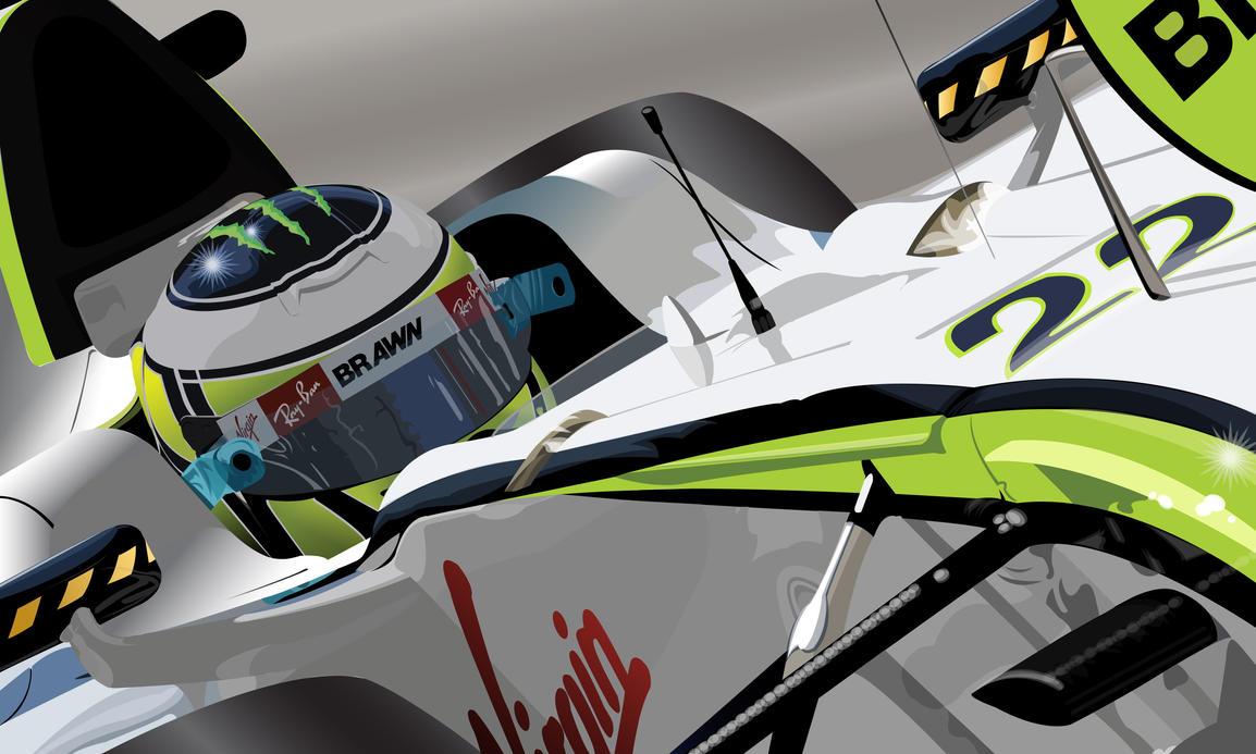 Jenson Button Vector by pencil-addict