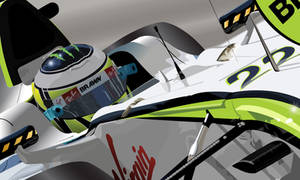 Jenson Button Vector