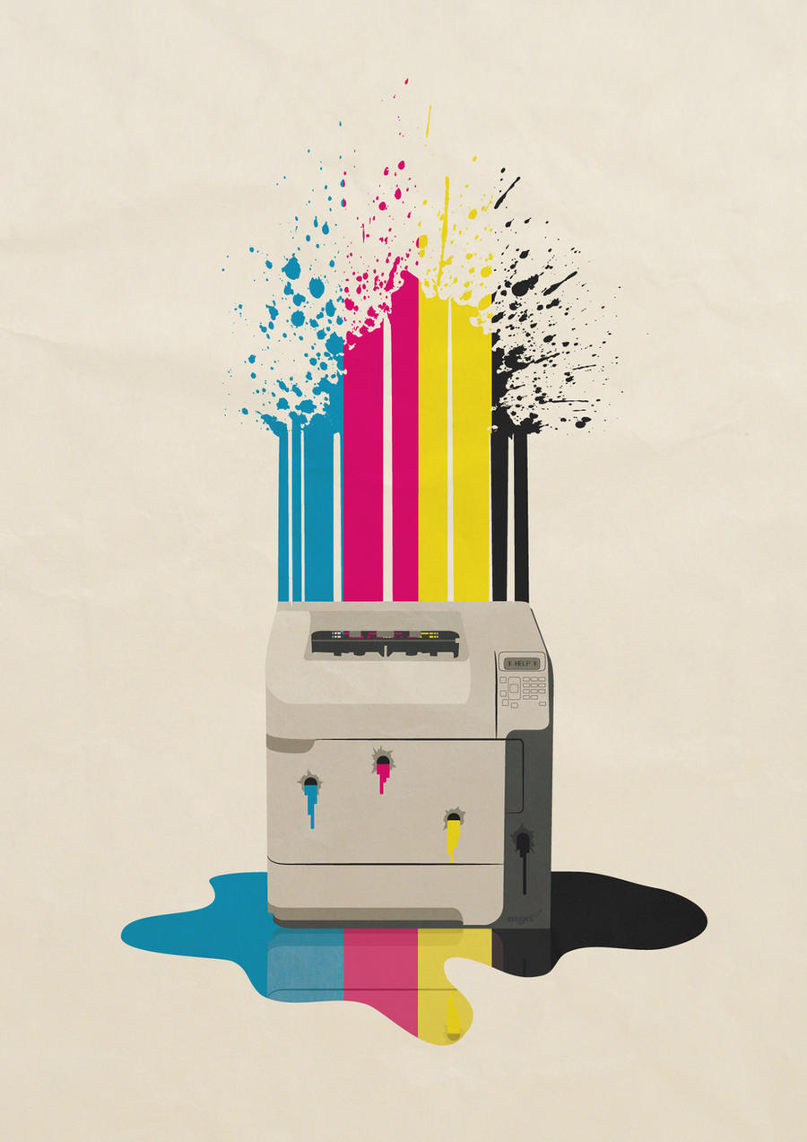 Bleedin' Printer by pencil-addict