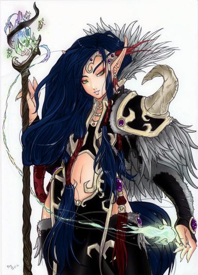Blood Elf,Warlock by Plathea