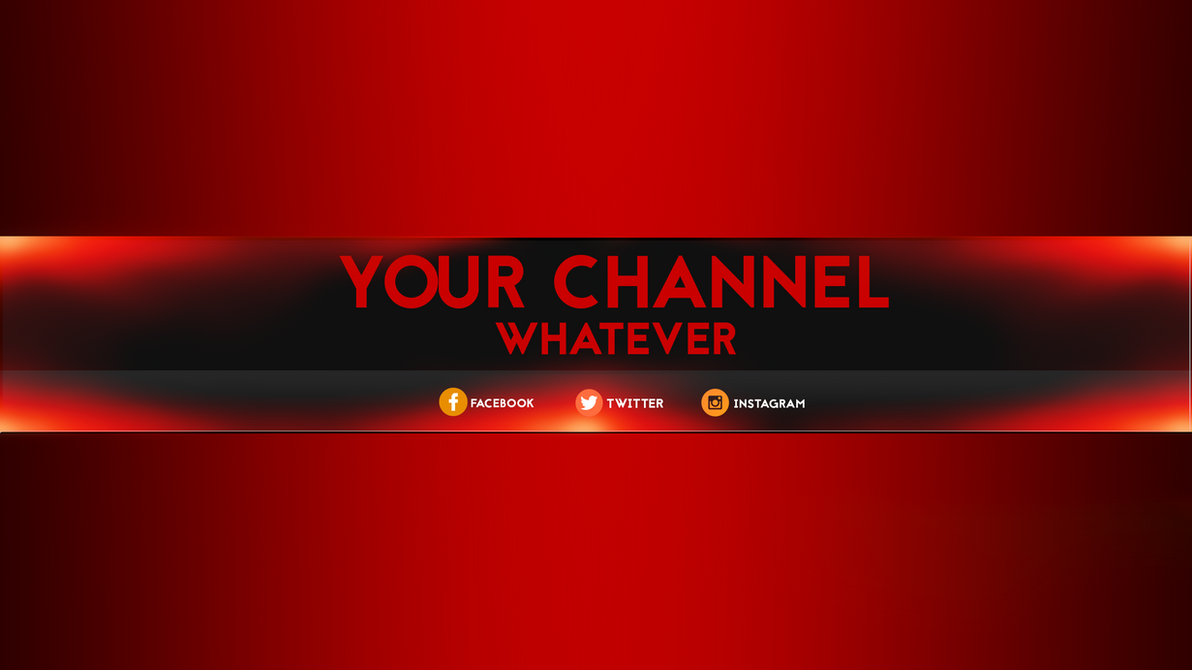 Yt Banner Template | Youtube Banner Template By Flegmatik95 On Deviantart
