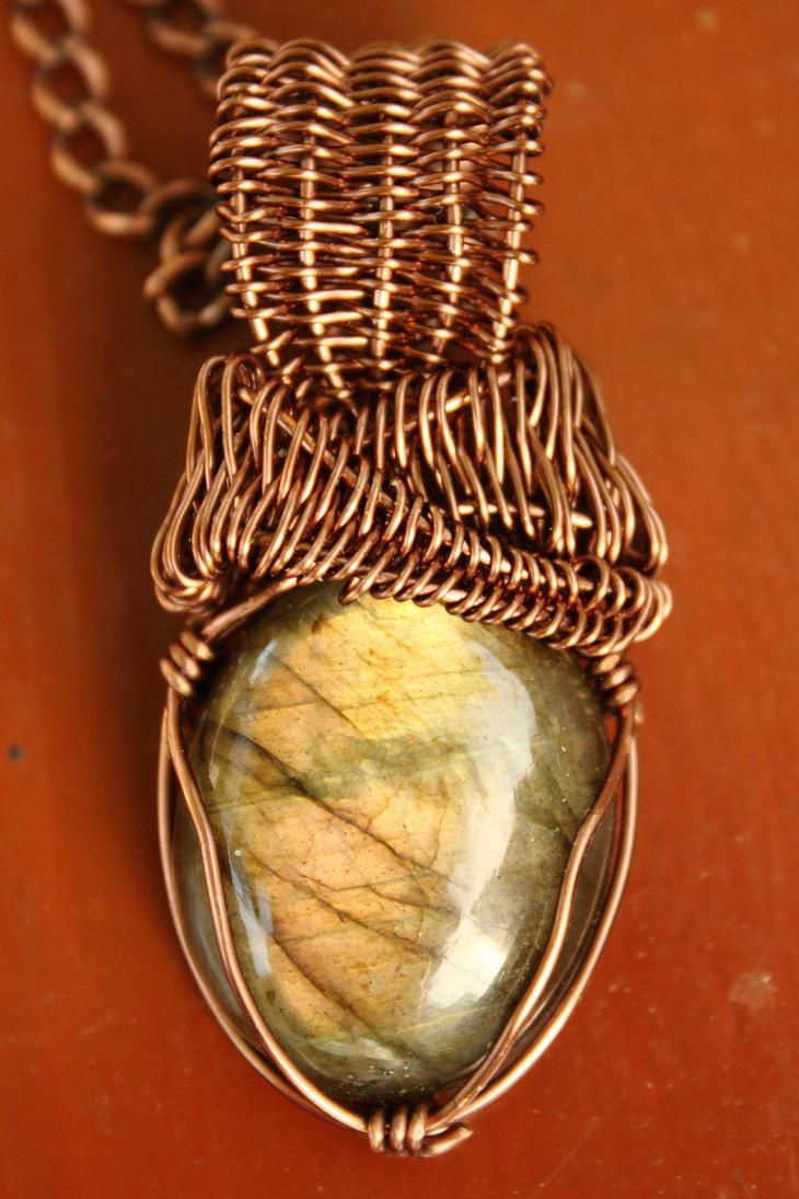 Antiqued Copper Labradorite by the3rdplanet