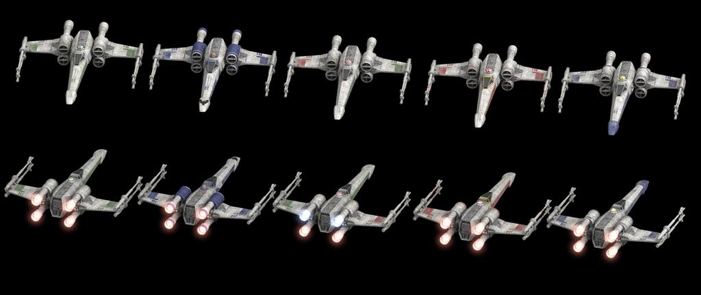 Custom X-Wings by FJ4