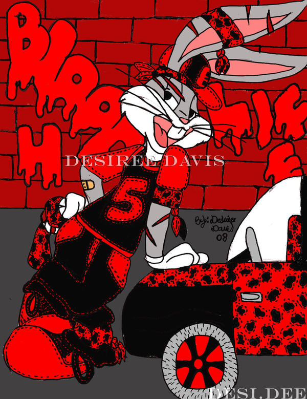 Gangsta bugs bunny by ladydesidee on deviantart - Blood gang cartoon ...