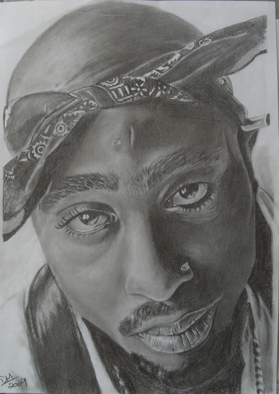 2pac pencil portrait by donaldmc25 on deviantART