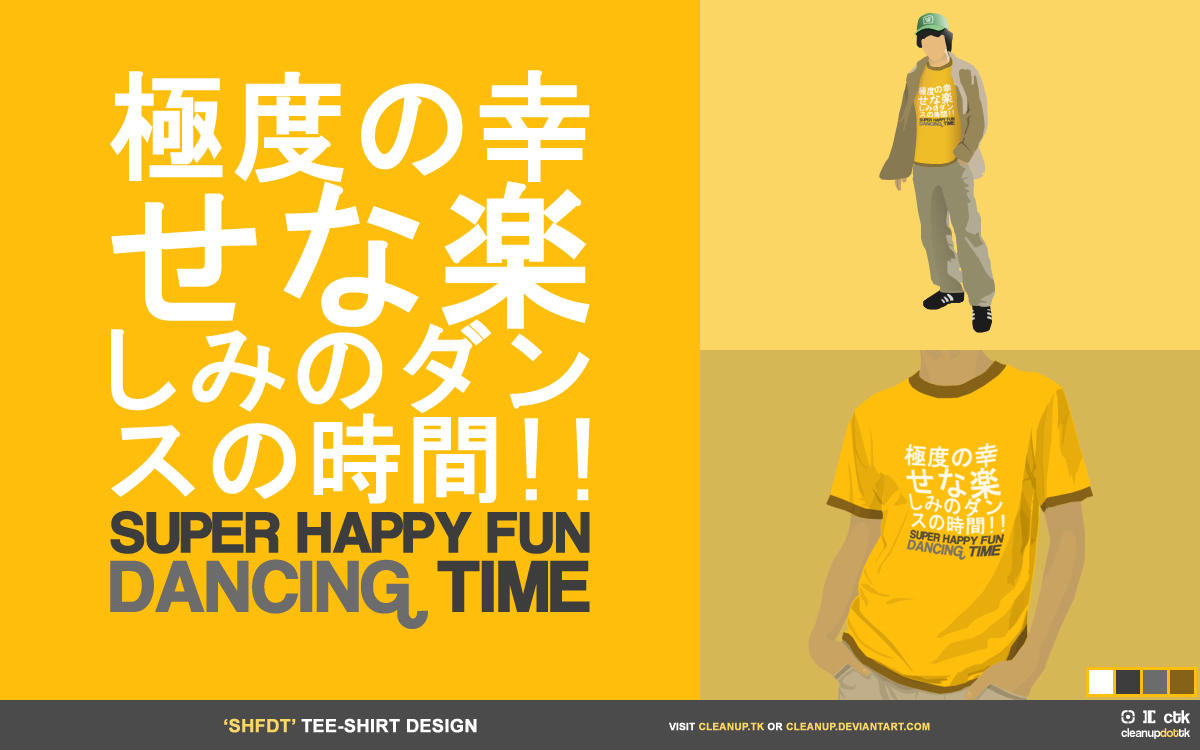 dancing time tee-shirt by cleanup