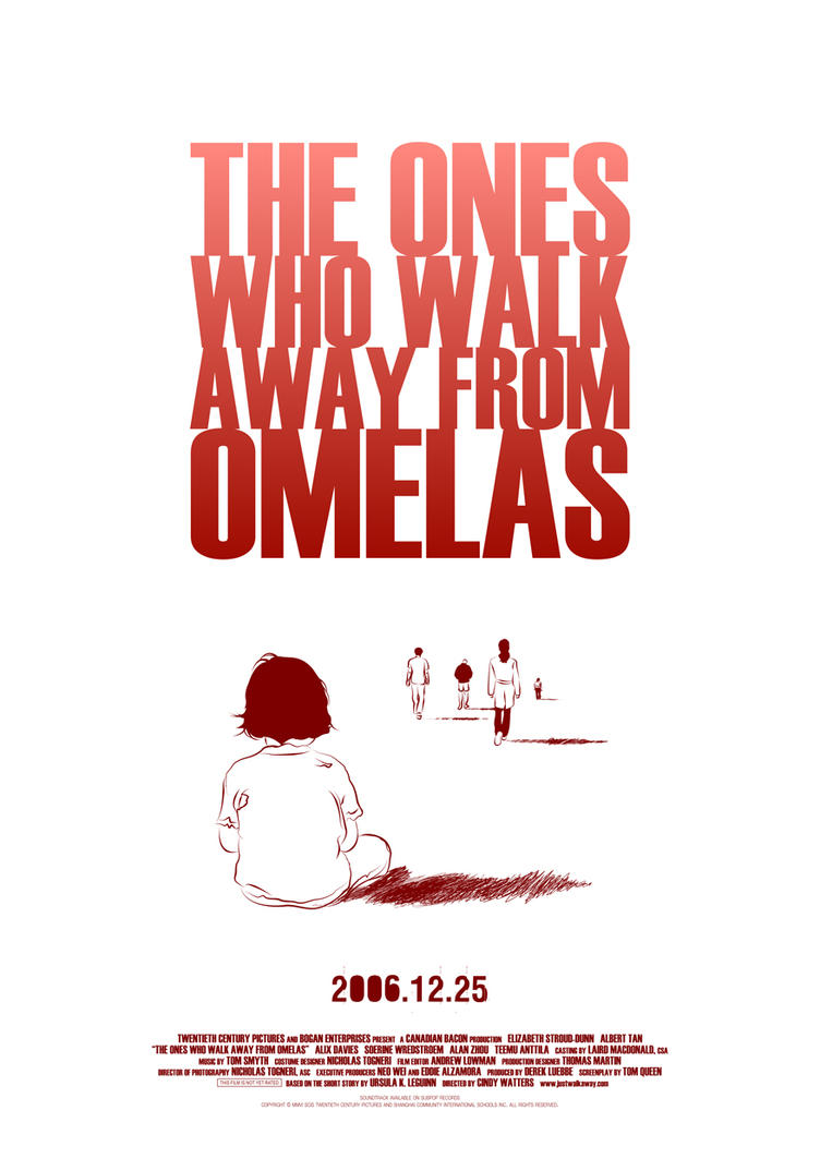 omelas essay Articles & essays toolkits & curriculum search the site who is the child who suffers in the story, and what is its relationship to those who walk away from omelas.