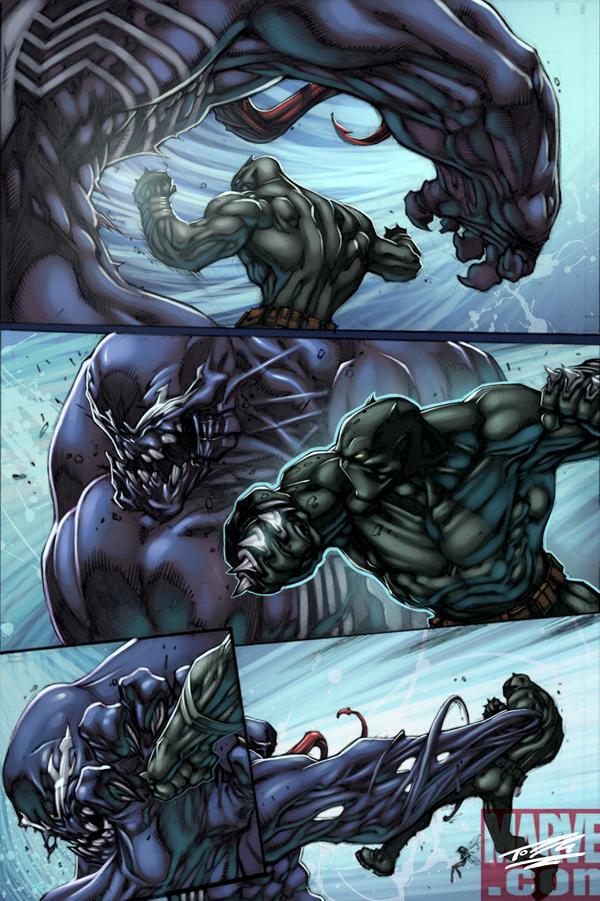 Venom vs Panther: Final by Nubry on DeviantArt
