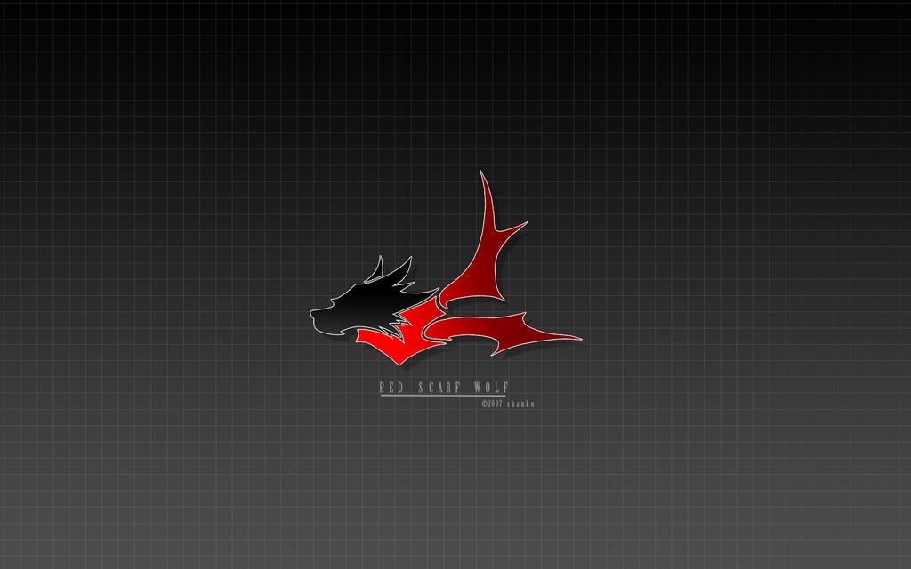 Red Scarf Wolf logo wallpaper by shanku